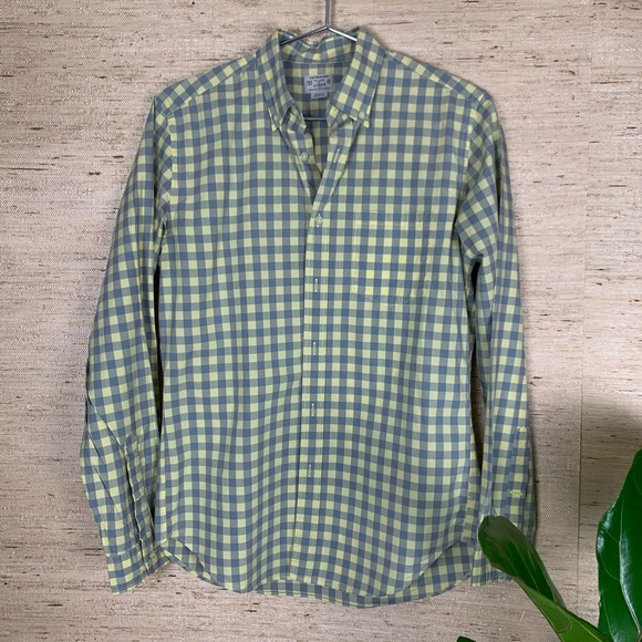 J. Crew Other - J.Crew Light Weight Tailored Check Button Down